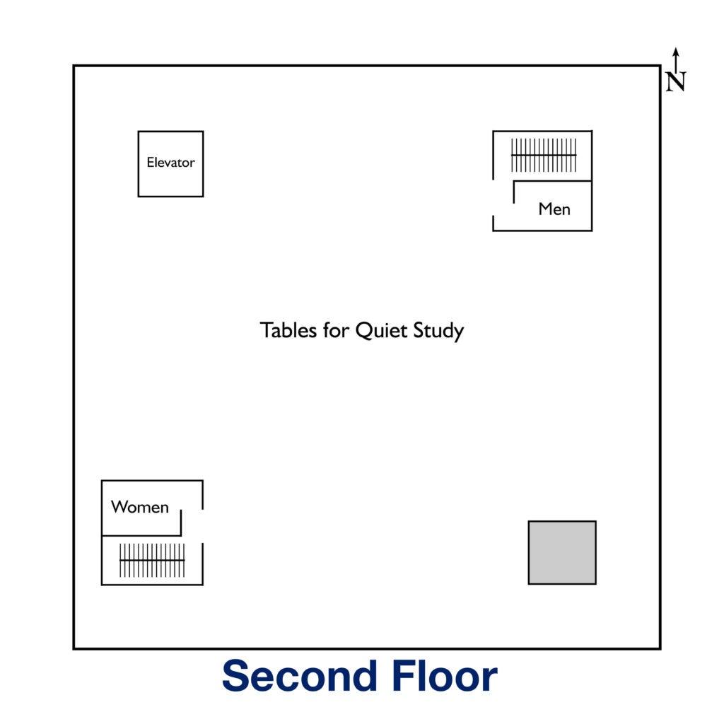 Map of Second Floor